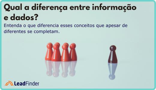 Qual a diferença entre dados e informações?